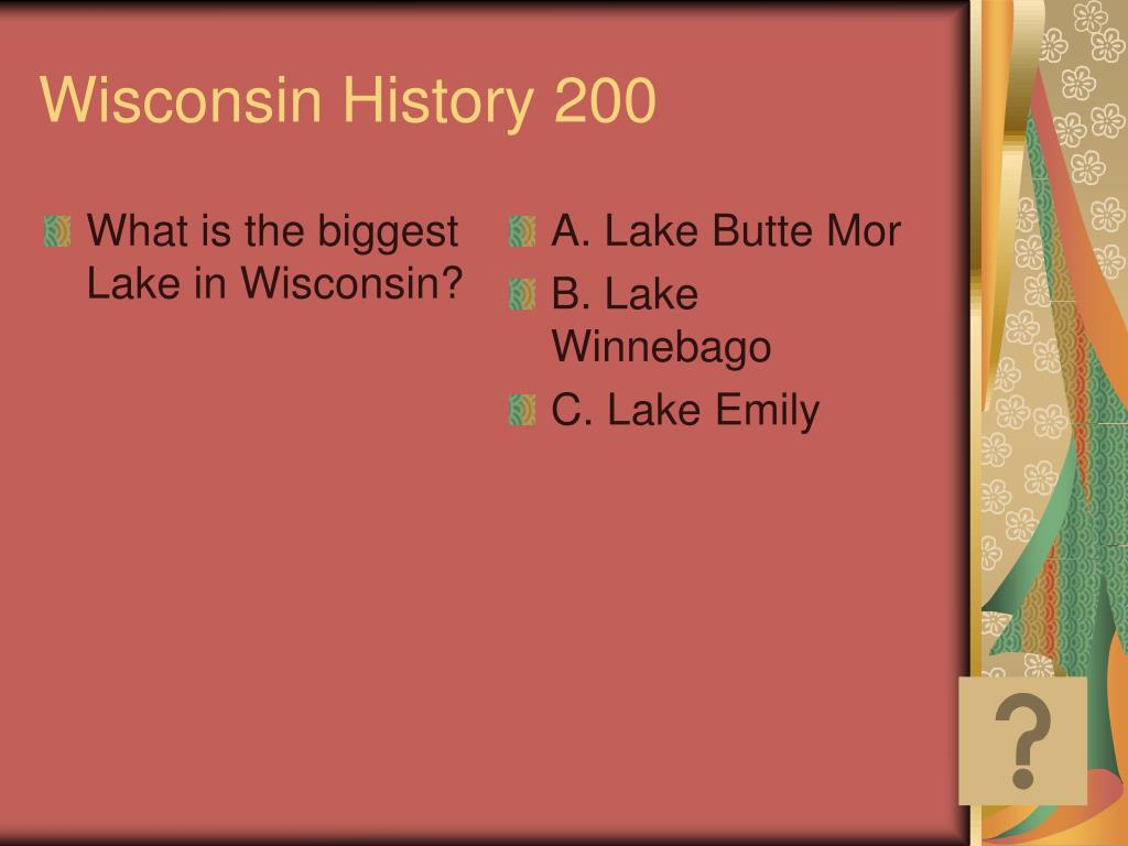 What is the biggest Lake in Wisconsin?