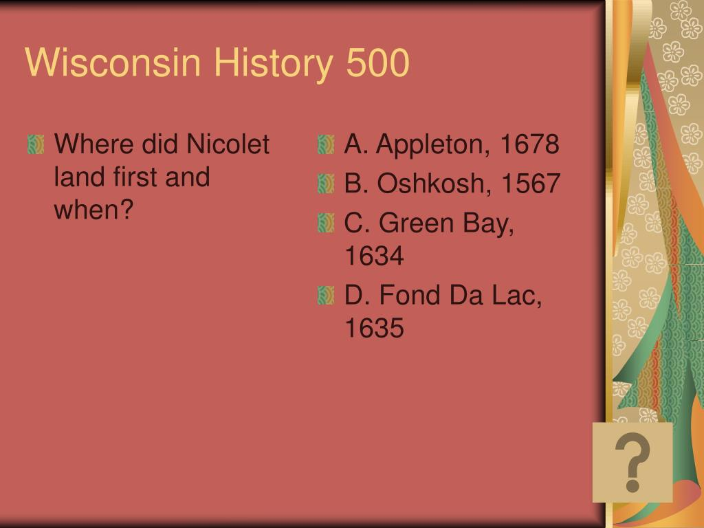 Where did Nicolet land first and when?