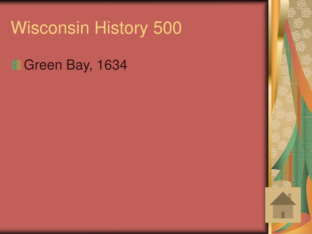 Wisconsin History 500