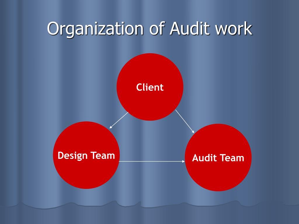 Organization of Audit work