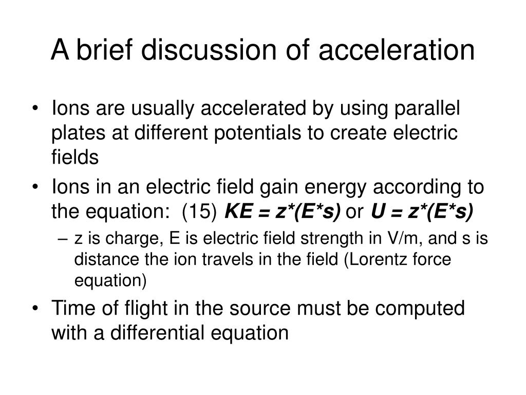 A brief discussion of acceleration
