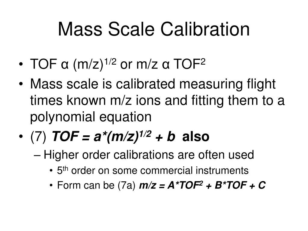 Mass Scale Calibration