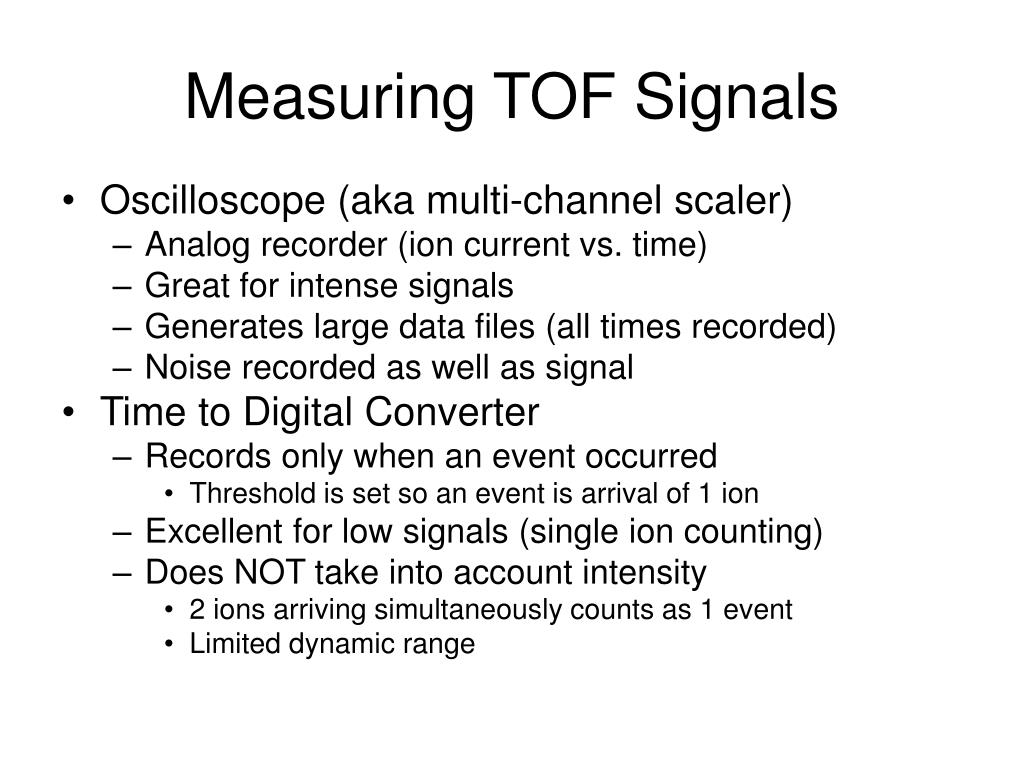 Measuring TOF Signals