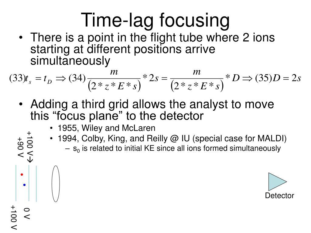 Time-lag focusing