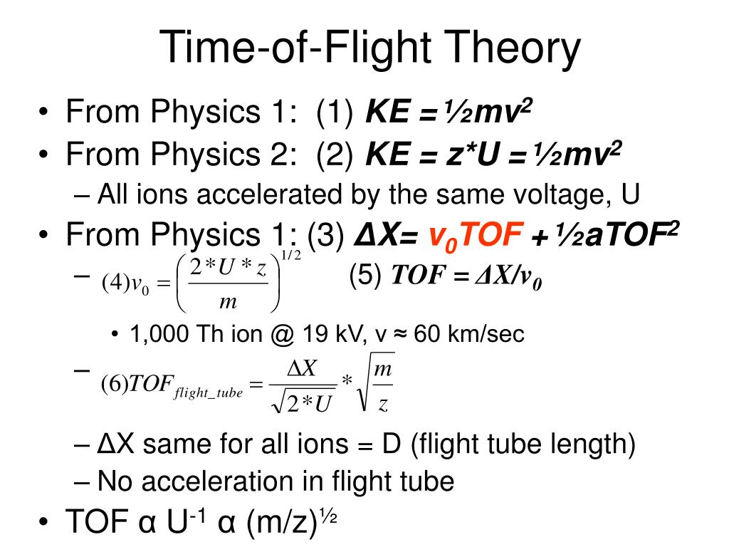 Time-of-Flight Theory