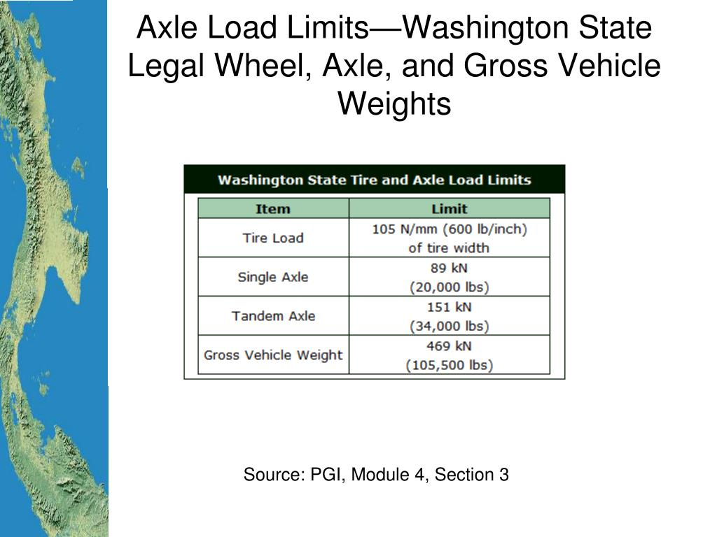Axle Load Limits : Ppt pavement design and construction traffic for