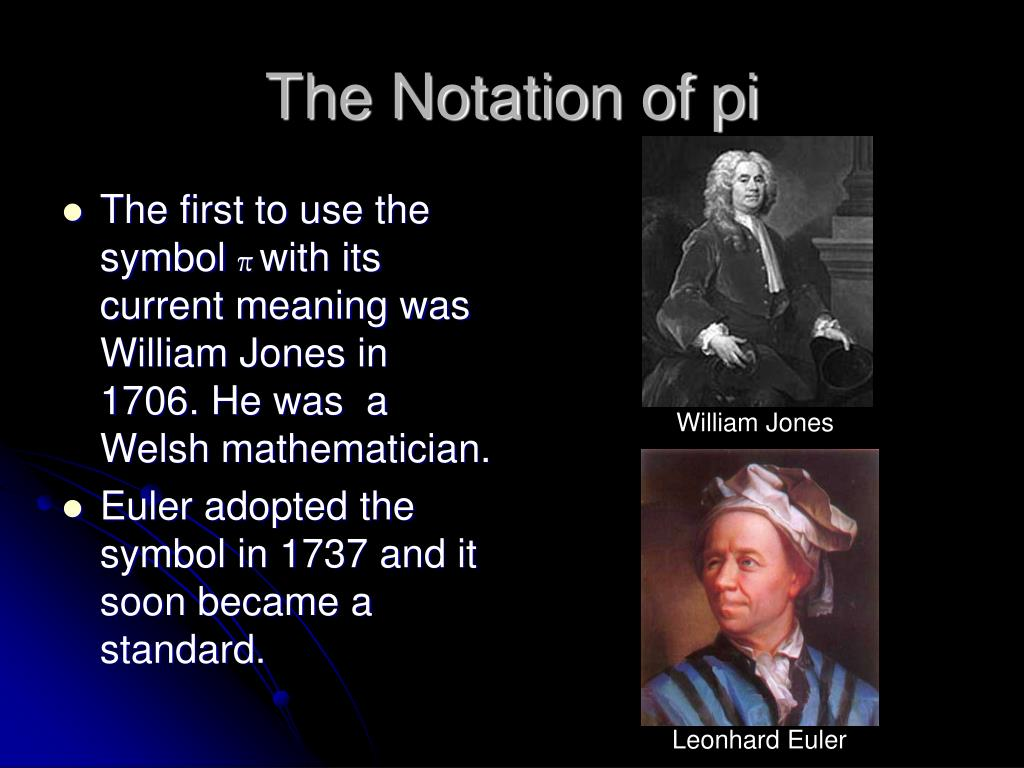 The Notation of pi
