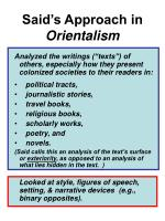 said s approach in orientalism