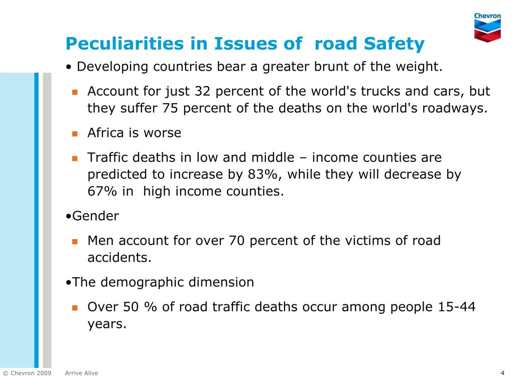 Peculiarities in Issues of  road Safety