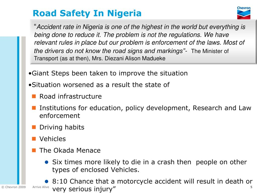 Road Safety In Nigeria