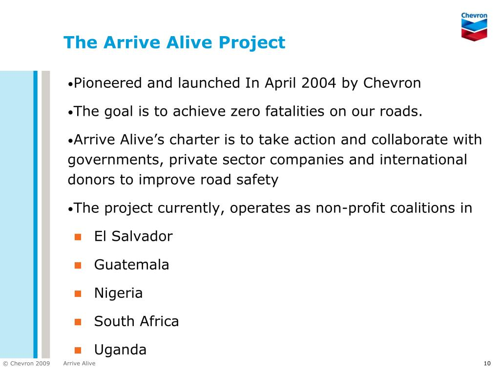 The Arrive Alive Project
