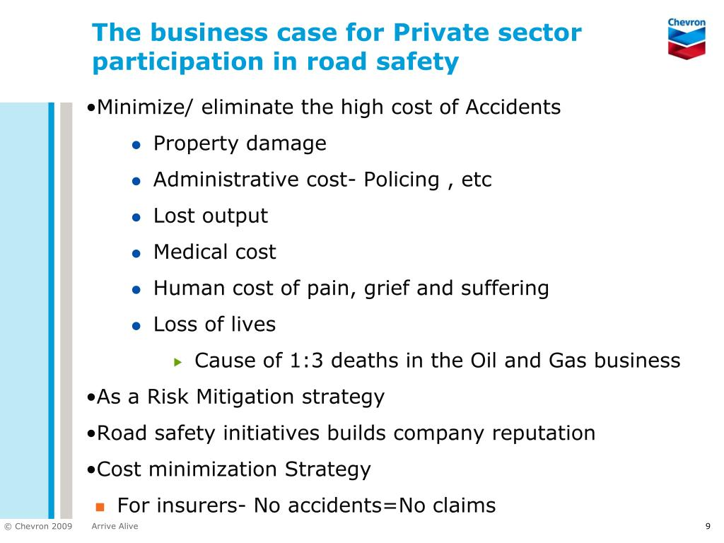 The business case for Private sector participation in road safety