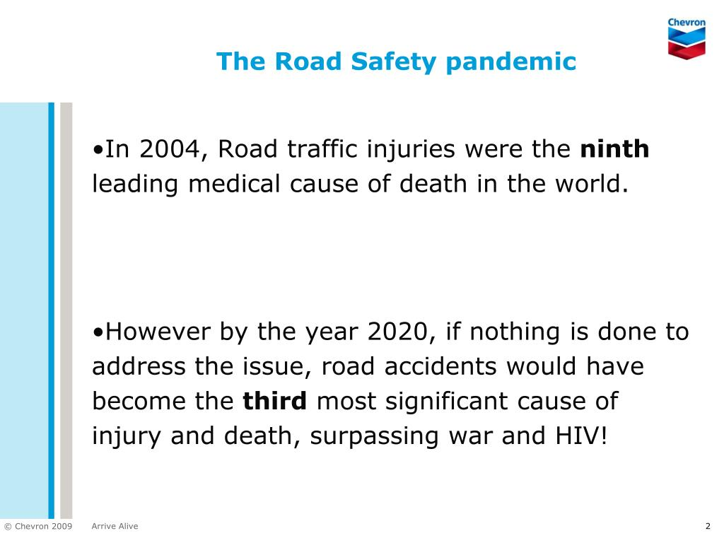 The Road Safety pandemic