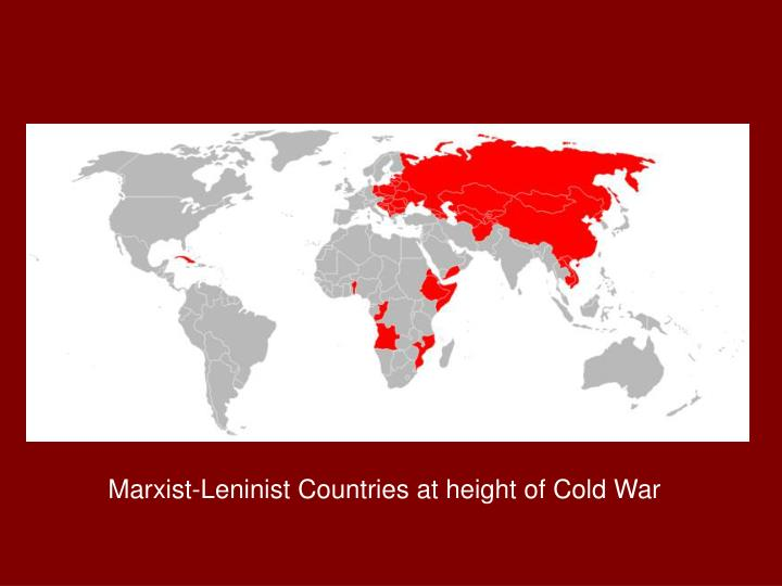 Marxist-Leninist Countries at height of Cold War