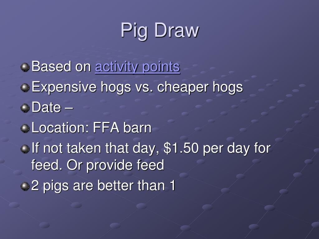 Pig Draw