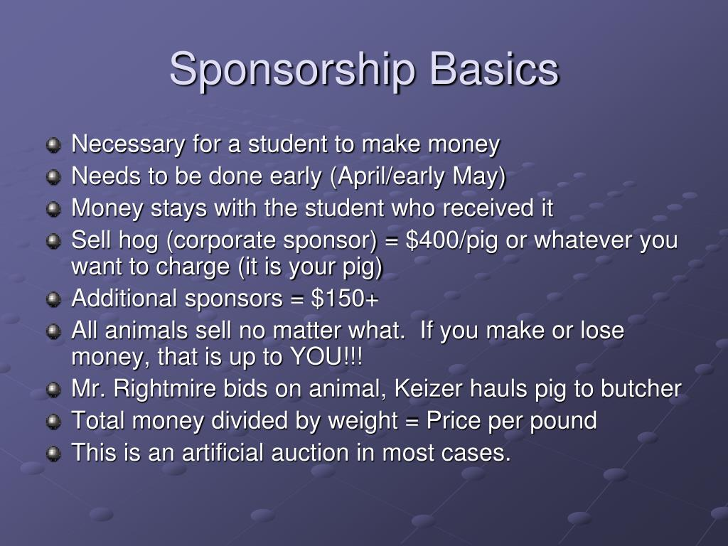 Sponsorship Basics