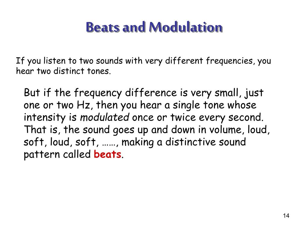 Beats and Modulation