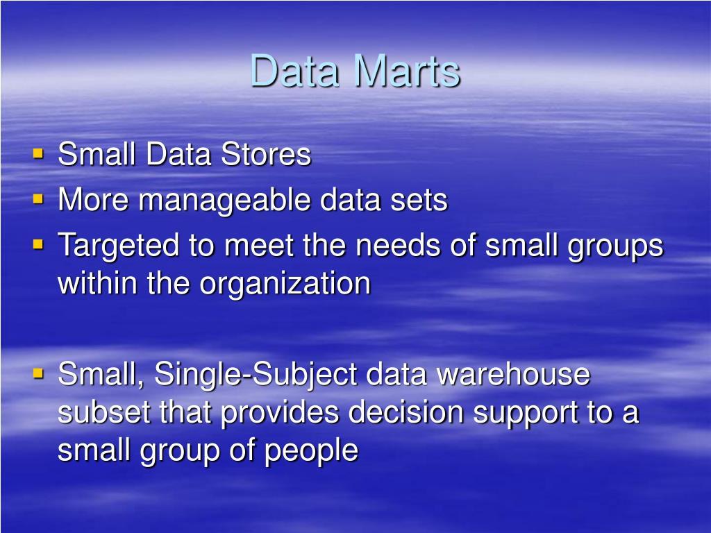 Data Marts