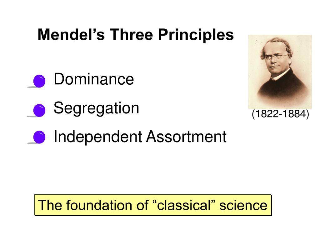 Mendel's Three Principles