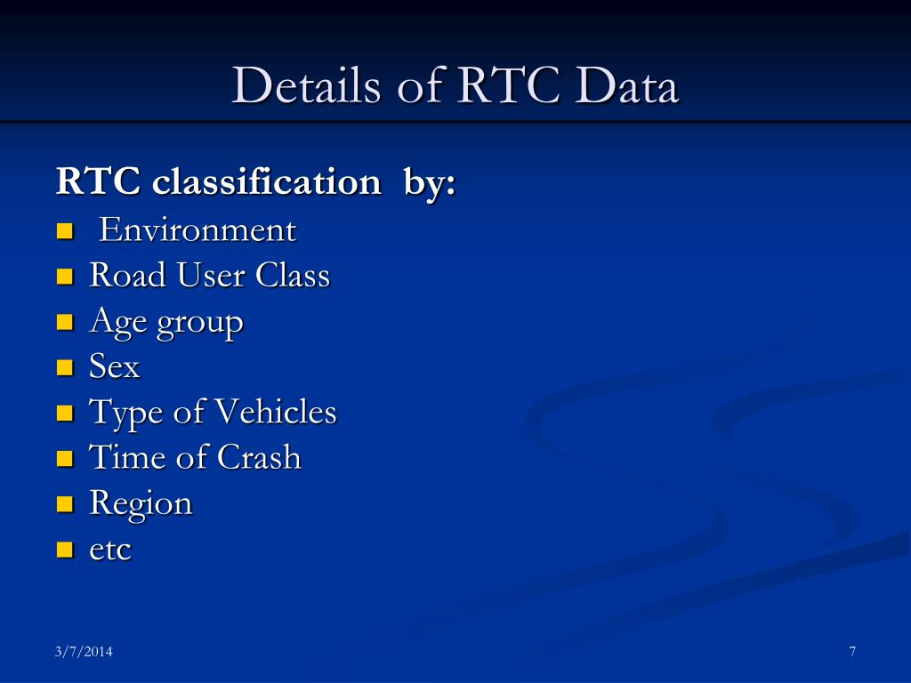 Details of RTC Data