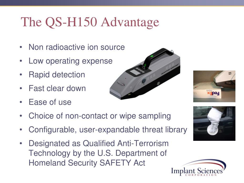 The QS-H150 Advantage