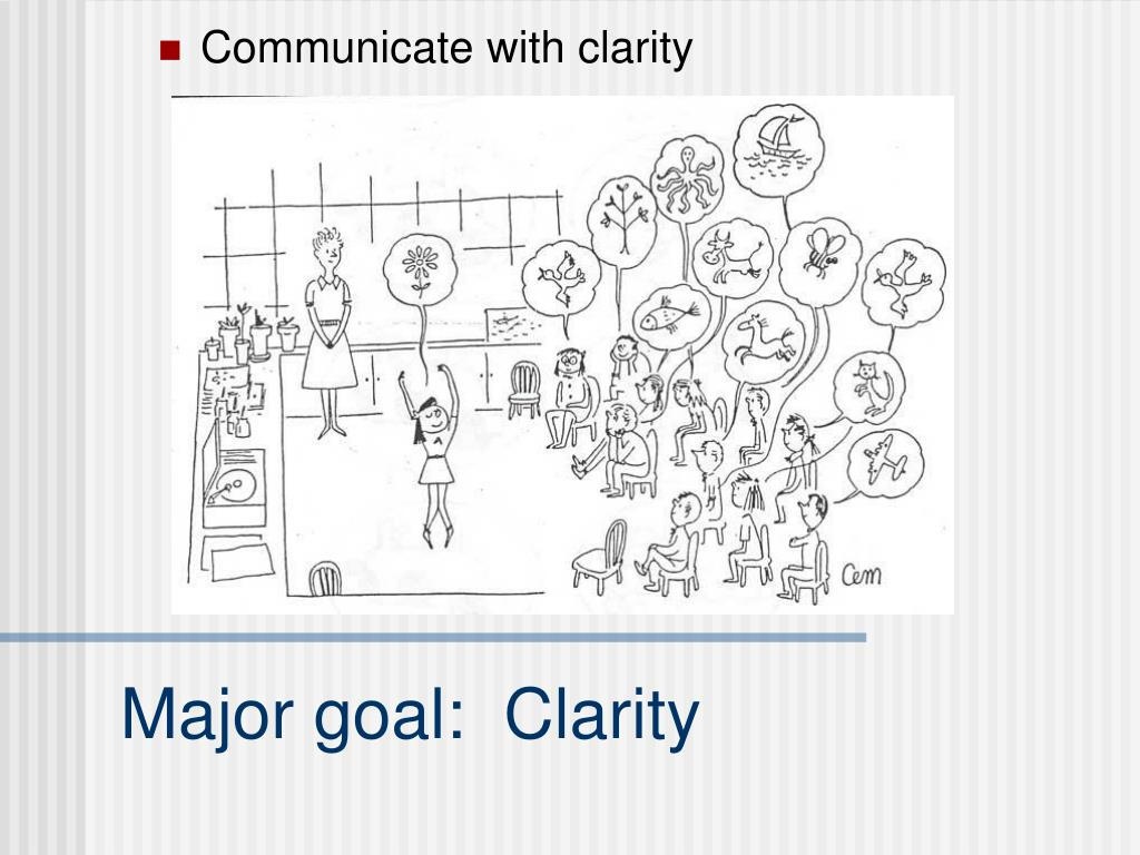 Communicate with clarity