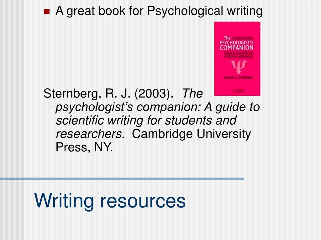 A great book for Psychological writing