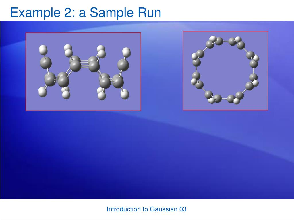 Example 2: a Sample Run