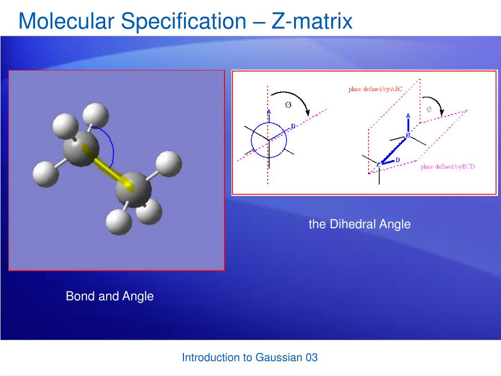 Molecular Specification – Z-matrix