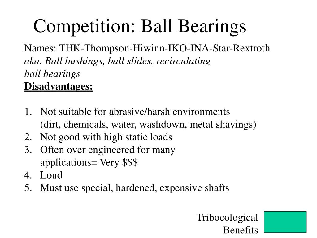 Competition: Ball Bearings