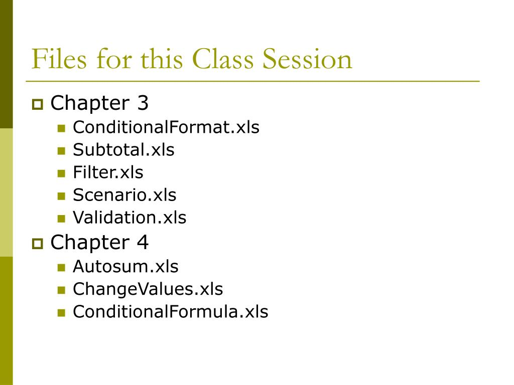 Files for this Class Session