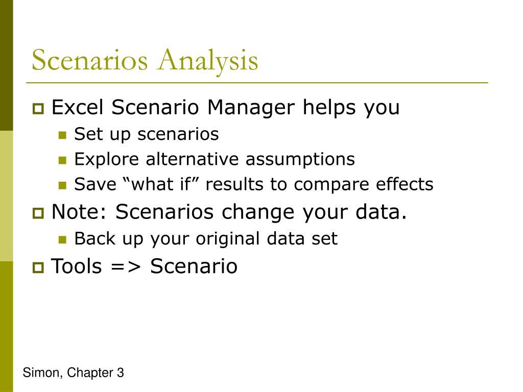 Scenarios Analysis