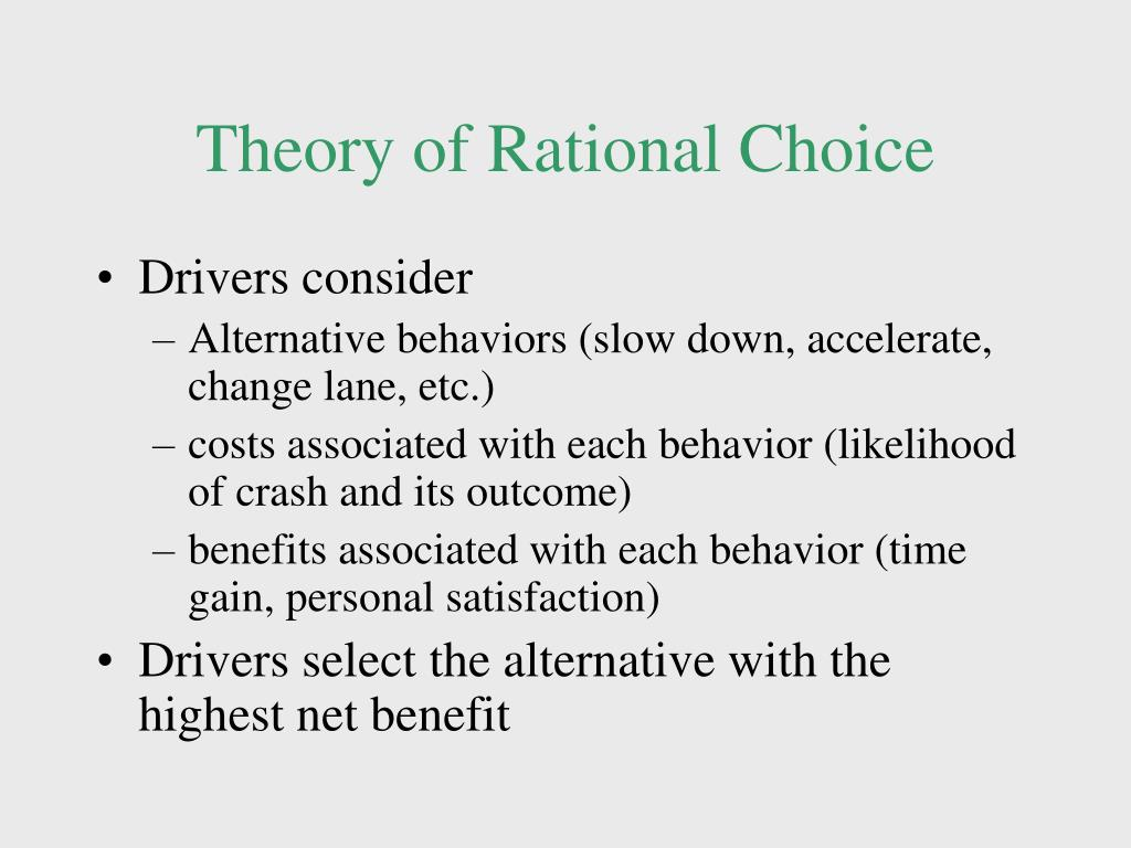 Theory of Rational Choice