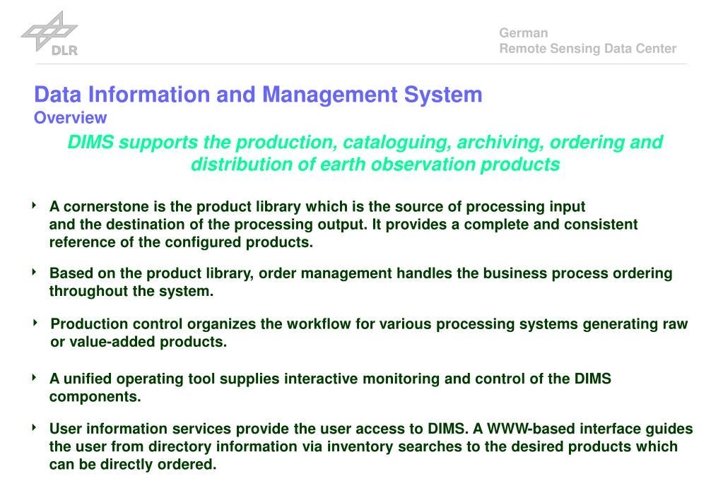 Data Information and Management System