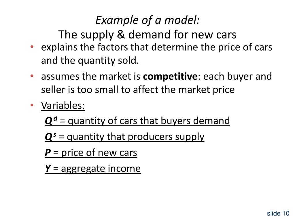 Example of a model: