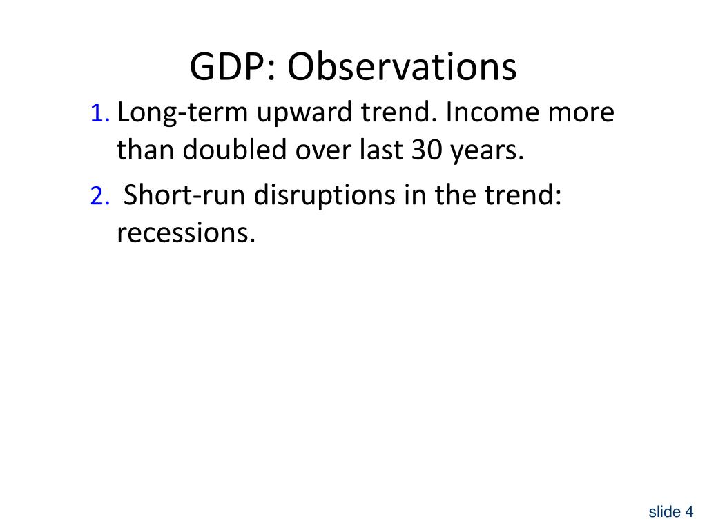GDP: Observations