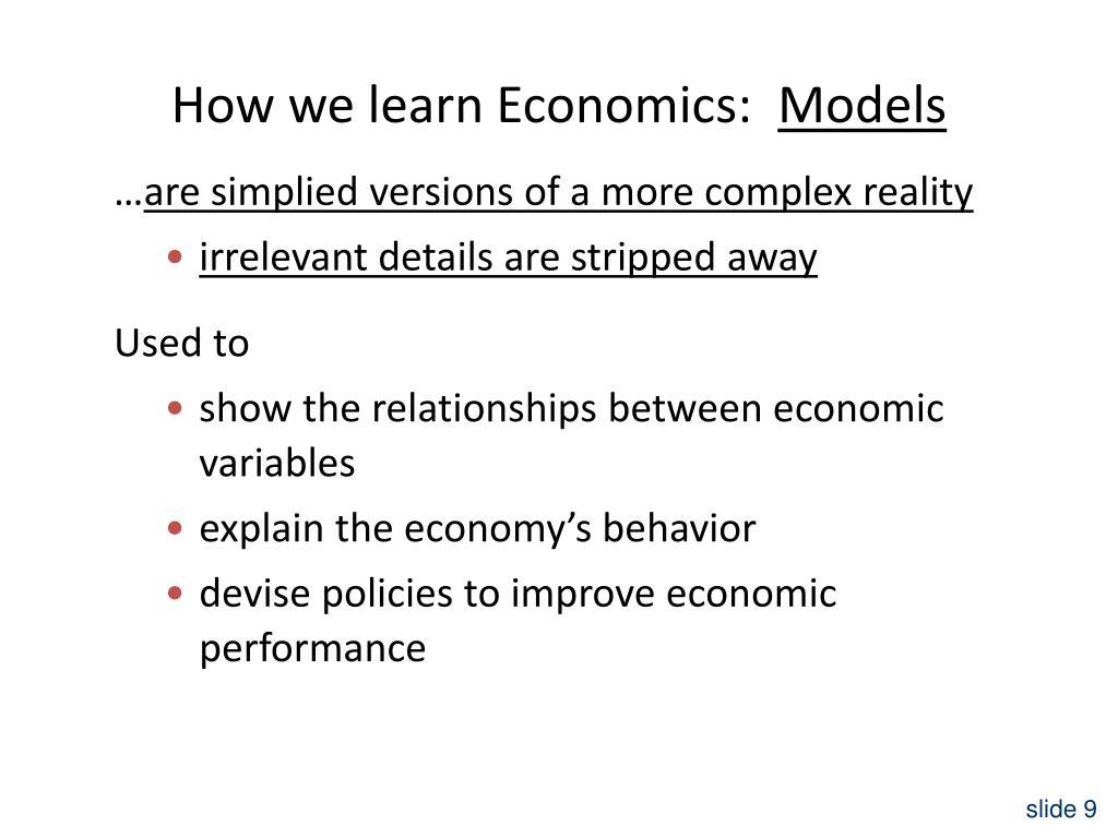 How we learn Economics: