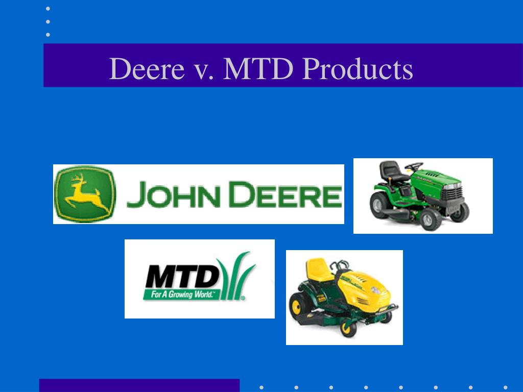 Deere v. MTD Products