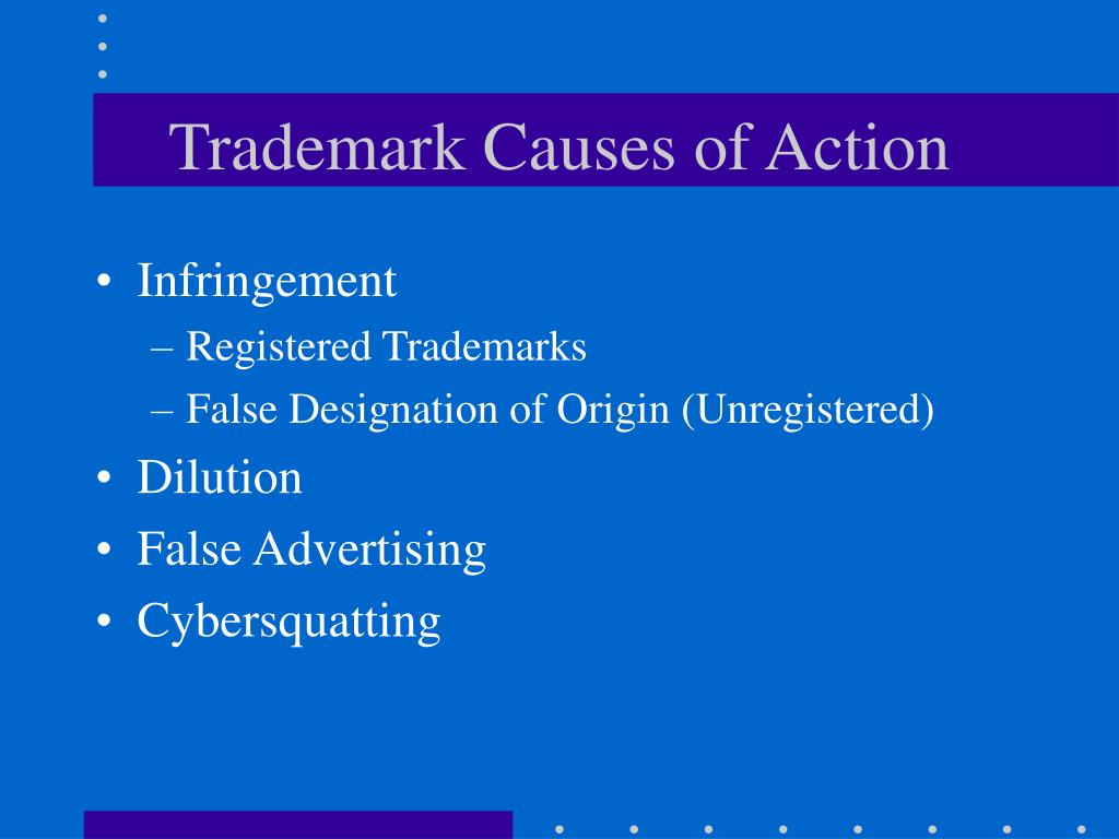 Trademark Causes of Action