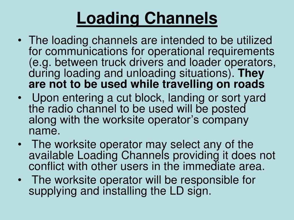 Loading Channels