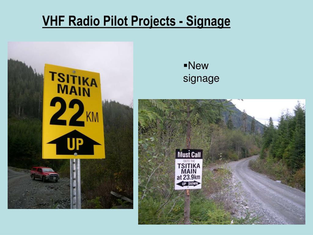 VHF Radio Pilot Projects - Signage