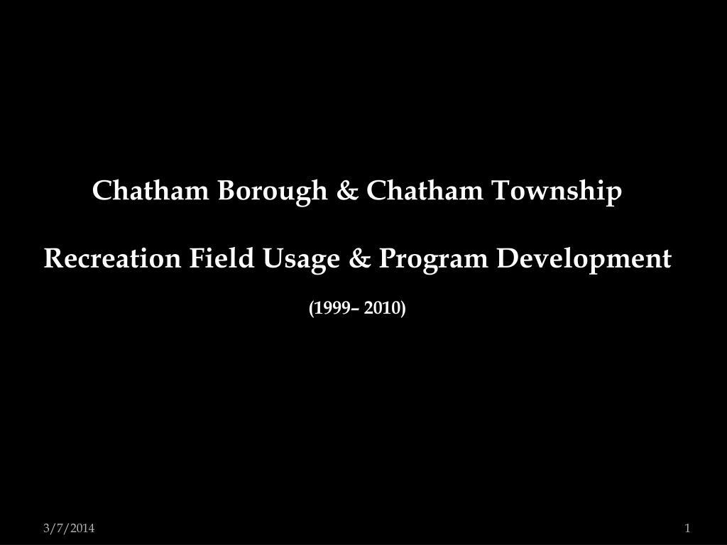 Chatham Borough & Chatham Township