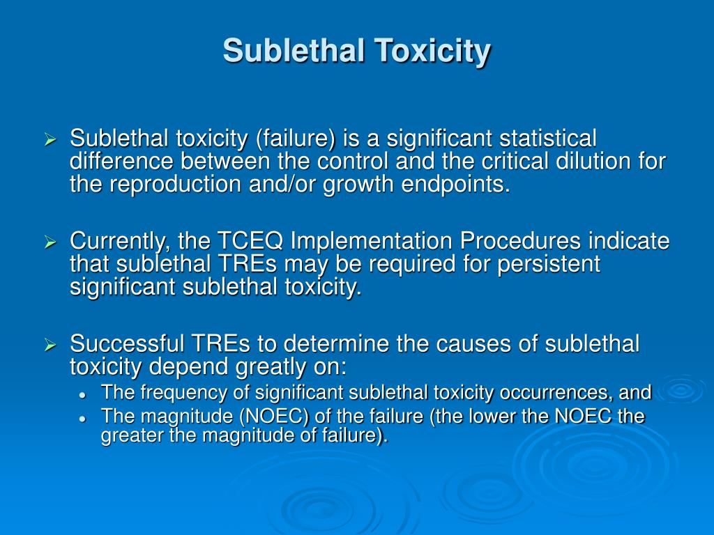 Sublethal Toxicity