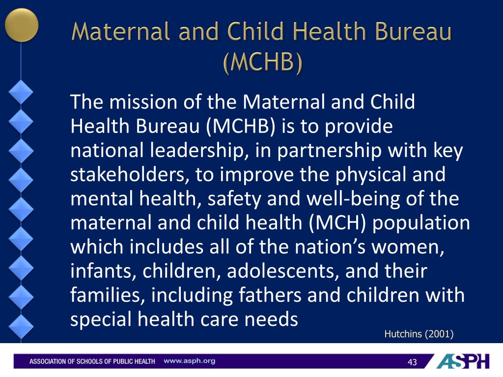 Maternal and Child Health Bureau (MCHB)