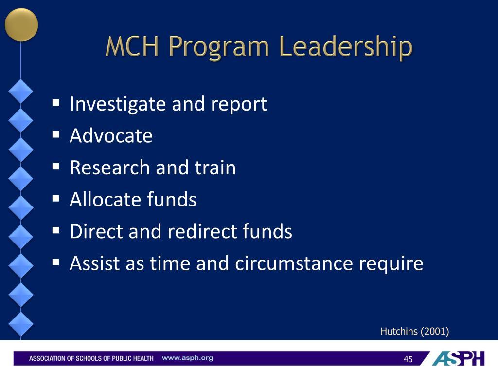 MCH Program Leadership