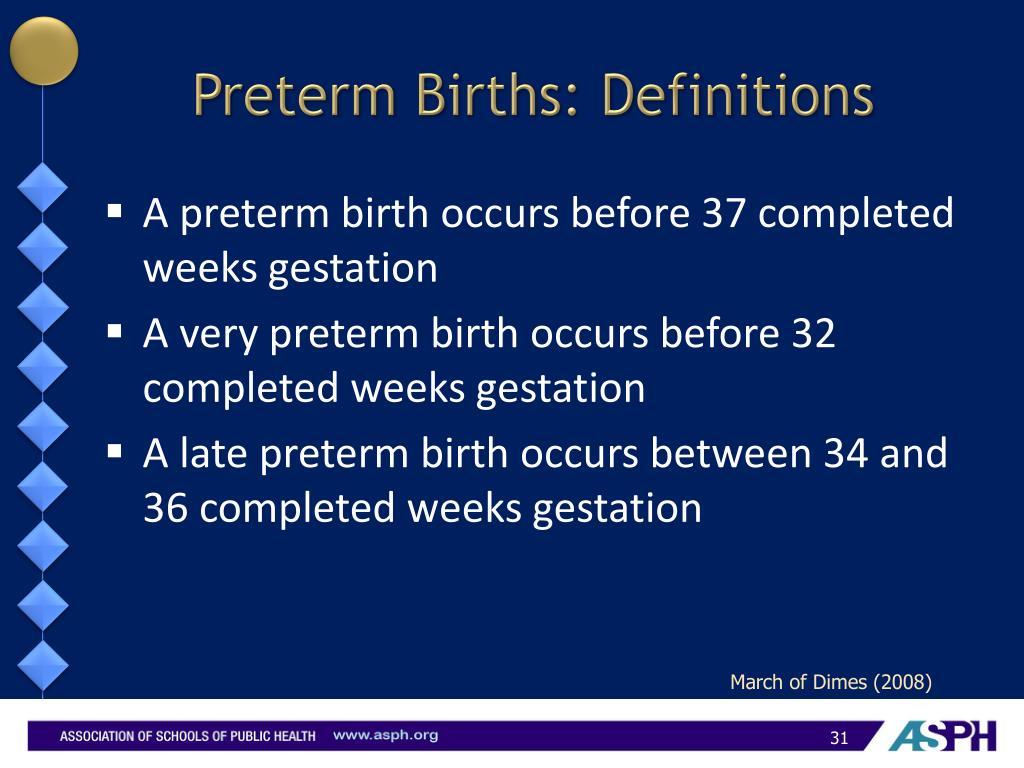 Preterm Births: Definitions
