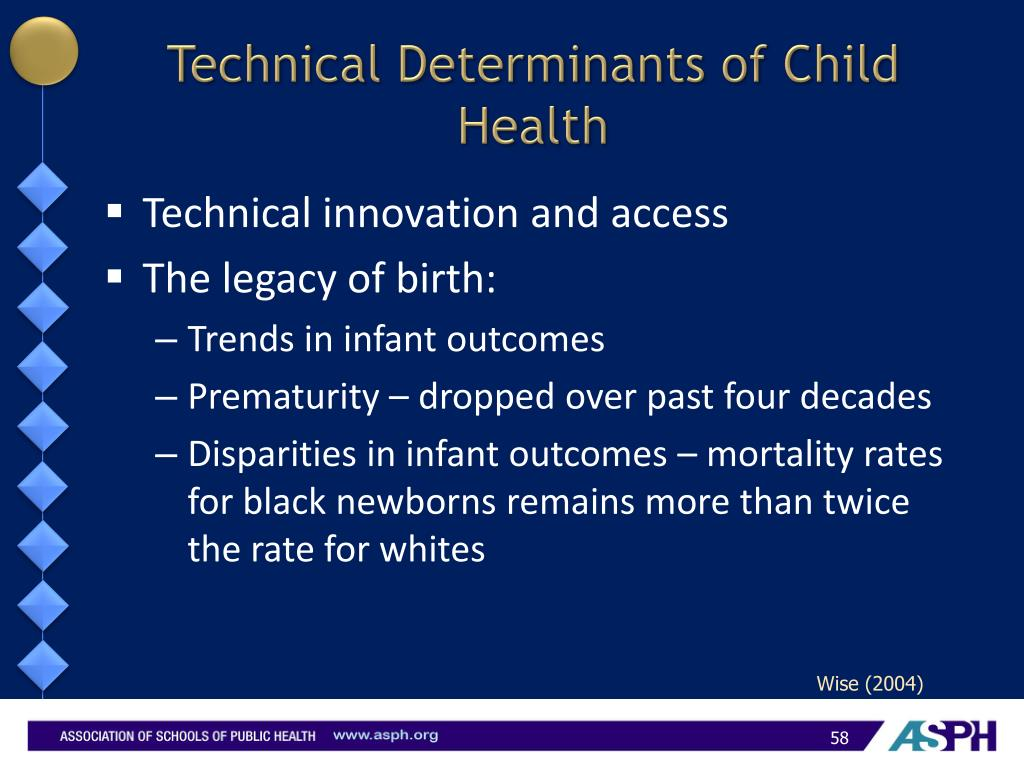 Technical Determinants of Child Health