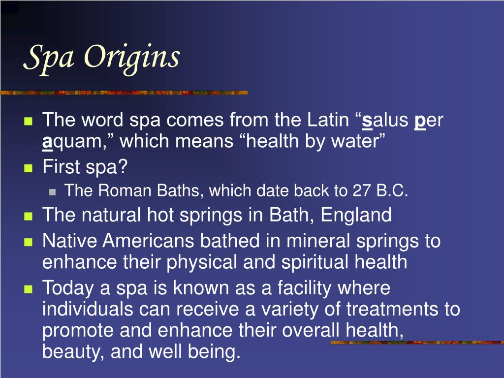 Spa Origins