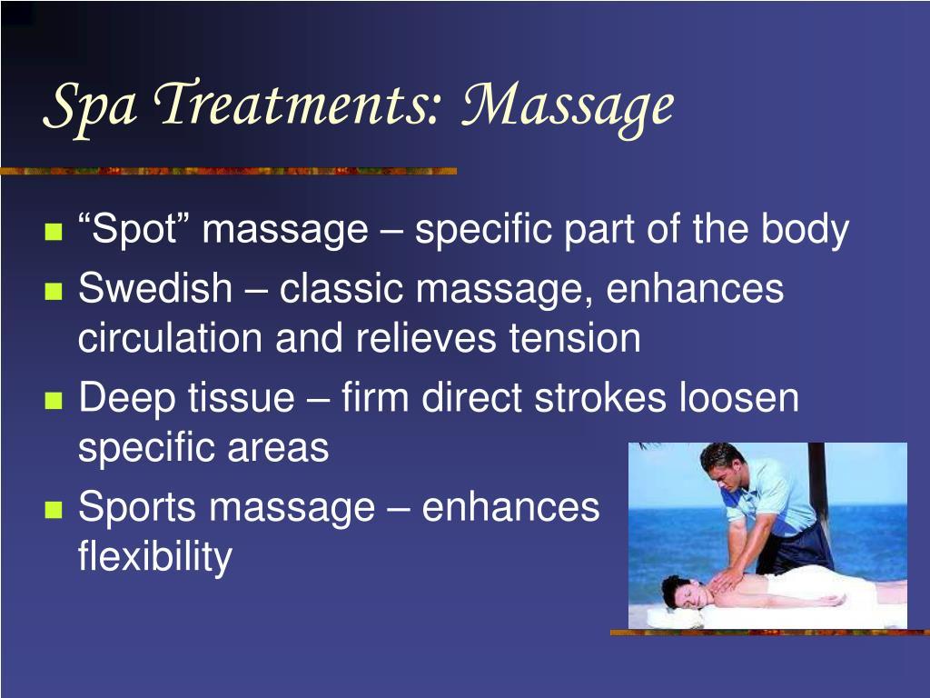 Spa Treatments: Massage