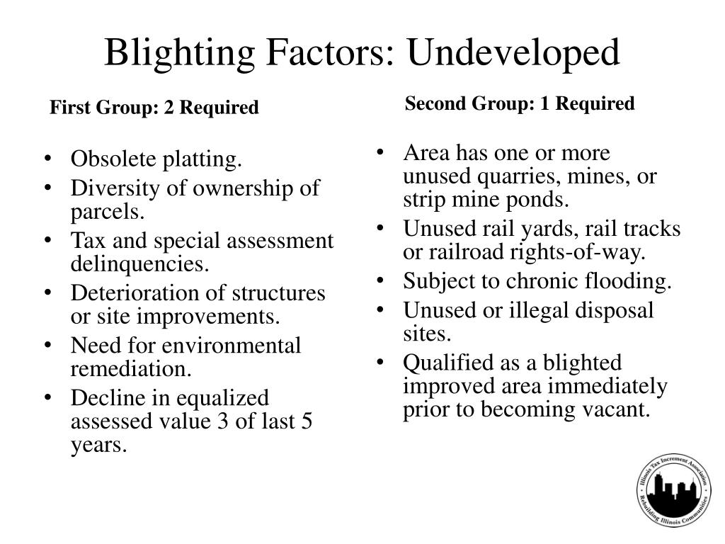 Blighting Factors: Undeveloped